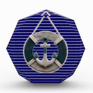 Preppy Nautical Stripes lifesaver beach Anchor Award