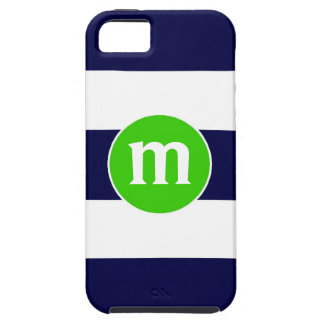 Preppy Nautical Stripes Personalized Initial Case iPhone 5 Covers
