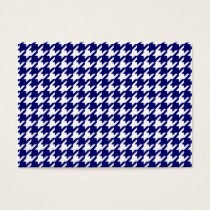 Preppy Navy Blue and White Houndstooth Pattern