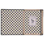 Preppy navy & tan polka dot dots nautical pattern iPad covers