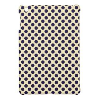 Preppy navy & tan polka dot dots nautical pattern