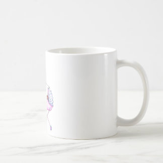 Preppy New Momma with Baby Girl Classic White Coffee Mug