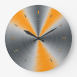 Preppy Orange Tone Color Matching Wall Clock