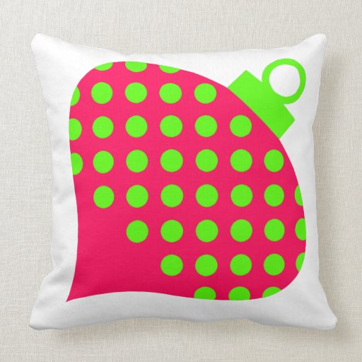 Preppy Pink and Green Ornament Throw Pillow Zazzle