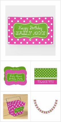 Preppy Pink and Green Polka Dot Party