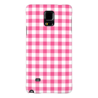 Preppy Pink and White Gingham Checked Galaxy Note 4 Case