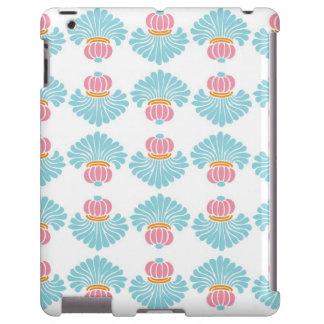 Preppy pink blue arabesque damask girly pattern
