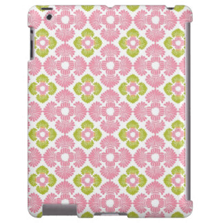 Preppy pink green arabesque damask girly pattern