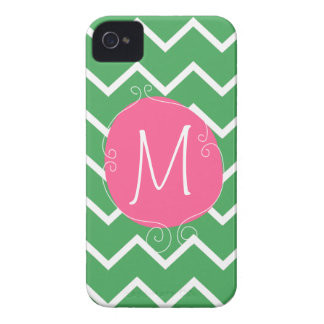 Preppy Pink Green Case -Mate iPhone 4/4S Mally Mac iPhone 4 Case-Mate Cases