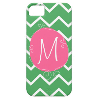 Preppy Pink Green Case -Mate iPhone 5 Mally Mac iPhone 5 Case
