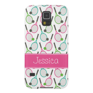 Preppy Pink Green Teal Tennis Pattern Personalized Cases For Galaxy S5