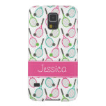Preppy Pink Green Teal Tennis Pattern Personalized Galaxy S5 Cover