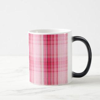 Preppy Pink Plaid Blush Madras Candy Pink Classic Magic Mug