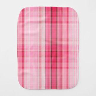 Preppy Pink Plaid Blush Madras Candy Pink Classic Burp Cloth