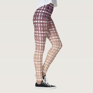 Preppy Pink Plaid Fashion Leggings