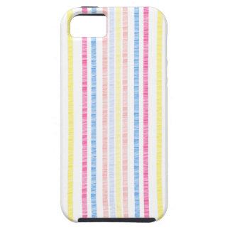 Preppy Pink Rainbow Seersucker Stripes iPhone SE/5/5s Case