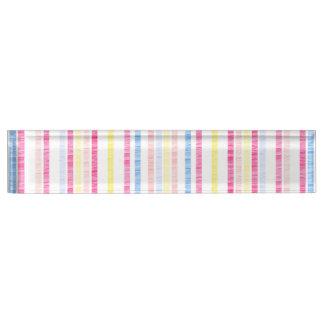 Preppy Pink Rainbow Seersucker Stripes Nameplate
