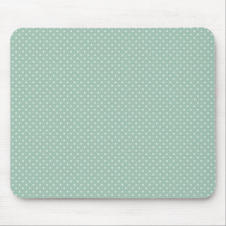 Preppy polka dot pindot mint green pattern mouse pad