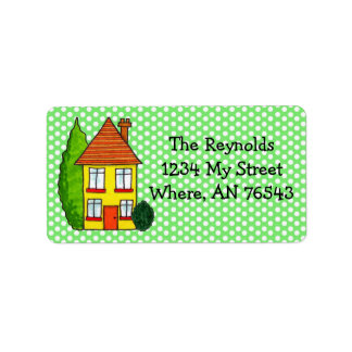 Preppy Polka Dots Home Sweet Address Labels