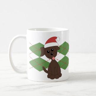 Preppy Puppy Christmas Coffee Mug