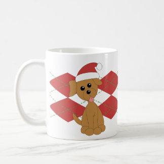 Preppy Puppy Christmas Coffee Mugs