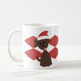 Preppy Puppy Christmas - Customized Coffee Mug