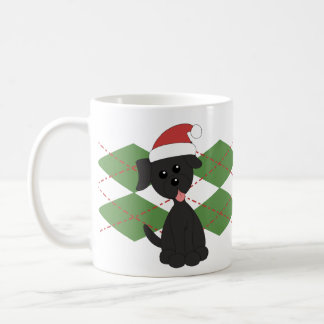 Preppy Puppy Christmas Mug