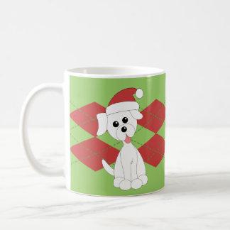 Preppy Puppy Christmas Mugs
