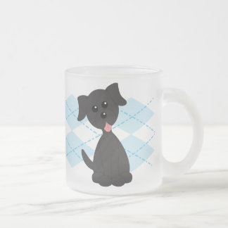 Preppy Puppy Frosted Glass Coffee Mug