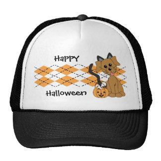 Preppy Puppy Halloween Trucker Hat