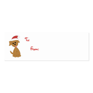Preppy Puppy to/from tags Mini Business Card
