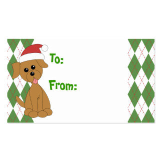 Preppy Puppy tp/from tags Business Card
