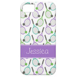 Preppy Purple Green Teal Tennis Personalized iPhone 5 Cases