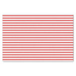 Preppy Red and White Striped Tissue paper