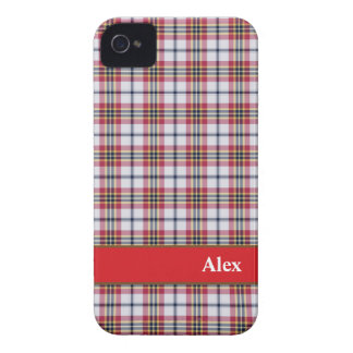 Preppy Red & White plaid pattern iPhone 4/4s case