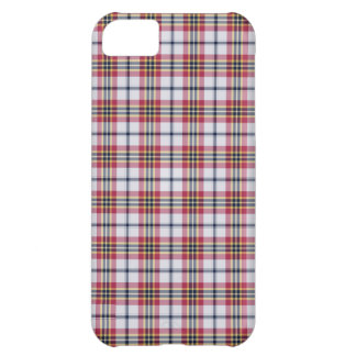 Preppy Red & White plaid pattern iPhone 5 case