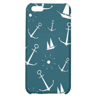 Preppy retro vintage anchors nautical anchor case iPhone 5C case