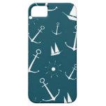 Preppy retro vintage anchors nautical anchor iPhone 5 case