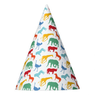 Preppy Safari Animal Birthday Party Hats