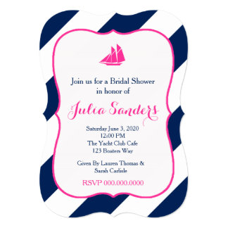 Preppy Sails in Hot Pink Card