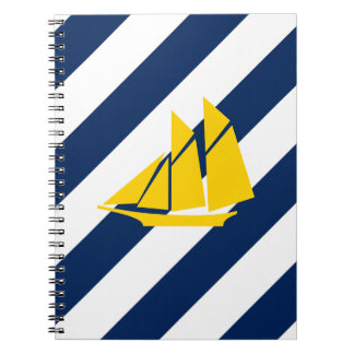 Preppy Sails in Yellow Notebook