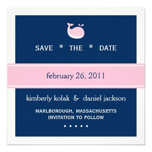 Preppy Save the Date Custom Invites