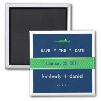 Preppy Save the Date Fridge Magnet