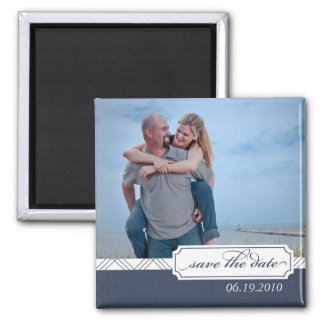 Preppy Save the Date Photo Magnet