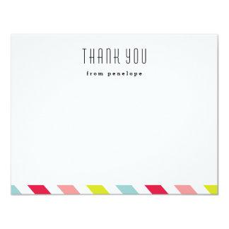 Preppy stripe   Thank you notecard