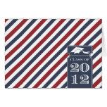 Preppy Striped Class of 2012 Note Card