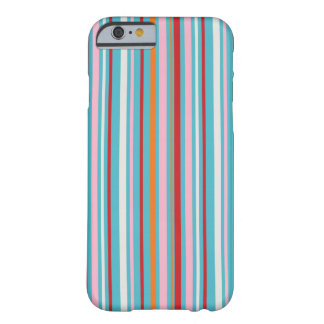 Preppy striped multicolored stripes stripe pattern barely there iPhone 6 case