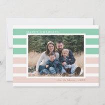 Preppy Stripes Photo Holiday Card