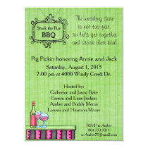 Preppy Summer BBQ Stock the Bar Invitation