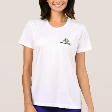 Beach Themed Preppy Volleyball Team Competitions. T-Shirt